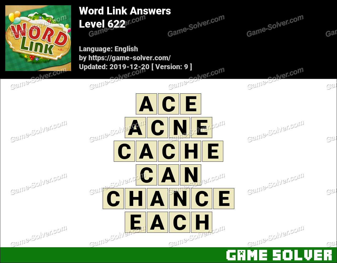 Word Link Level 622 Answers