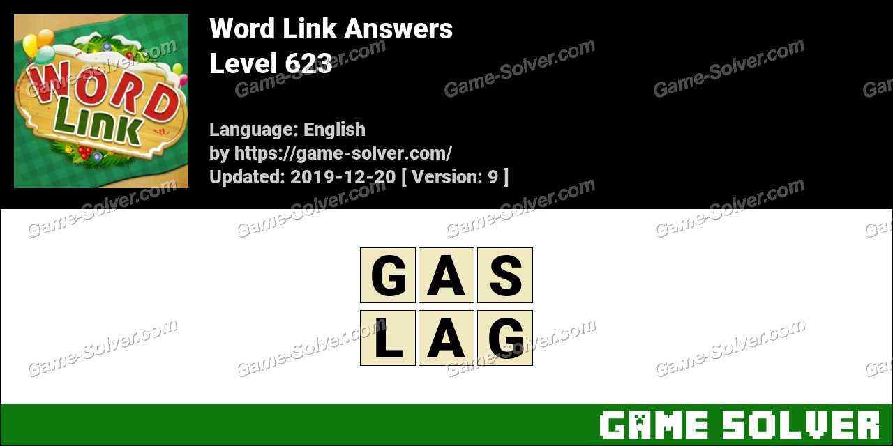 Word Link Level 623 Answers