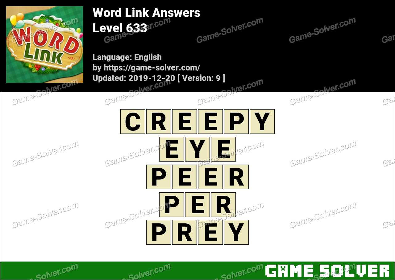 Word Link Level 633 Answers