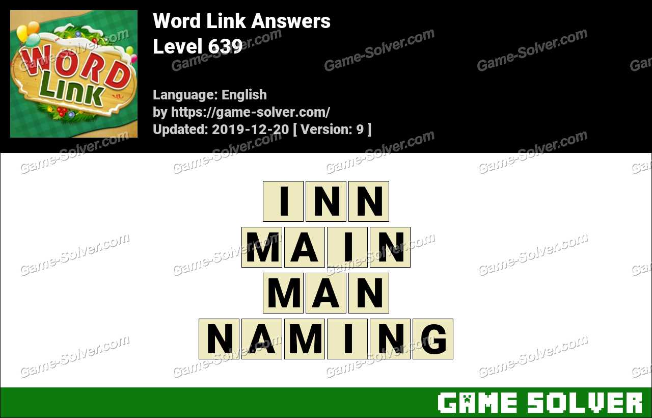 Word Link Level 639 Answers