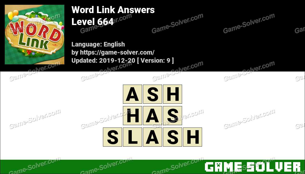 Word Link Level 664 Answers