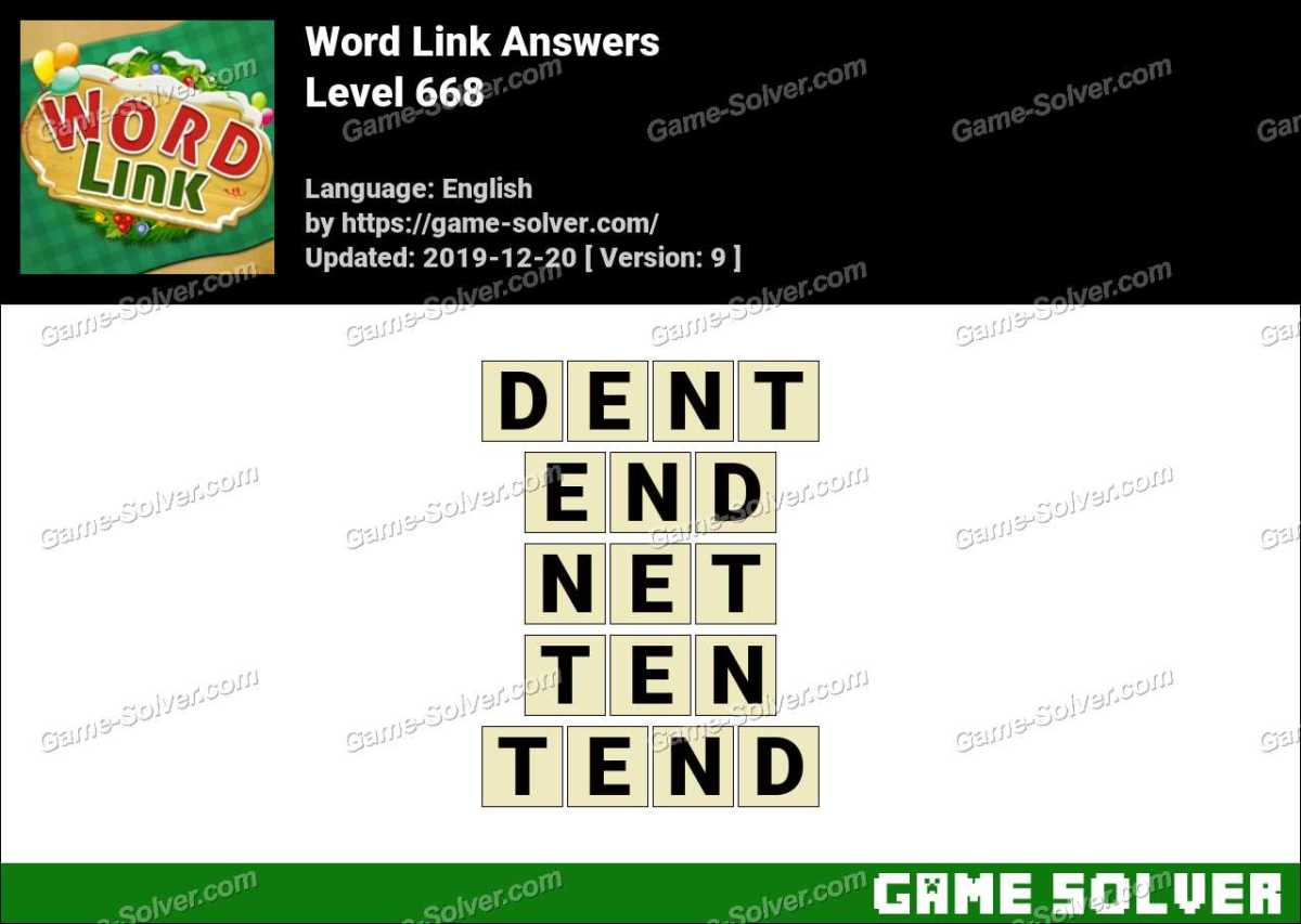 Word Link Level 668 Answers