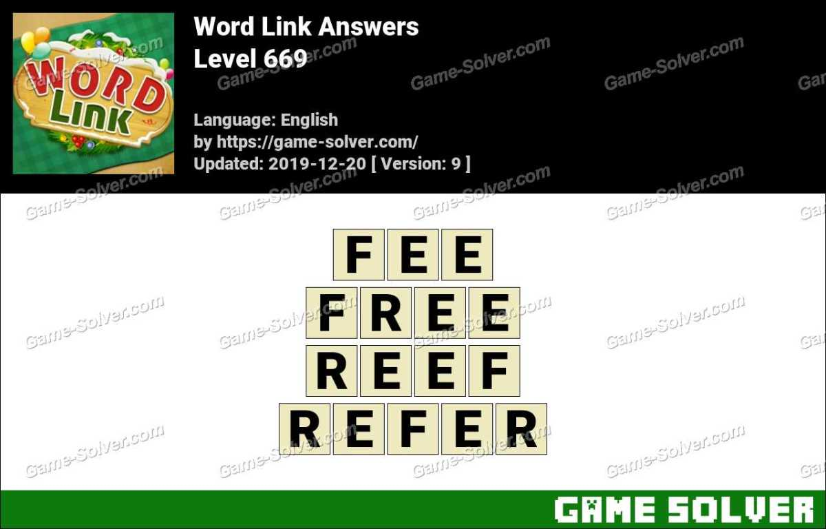 Word Link Level 669 Answers