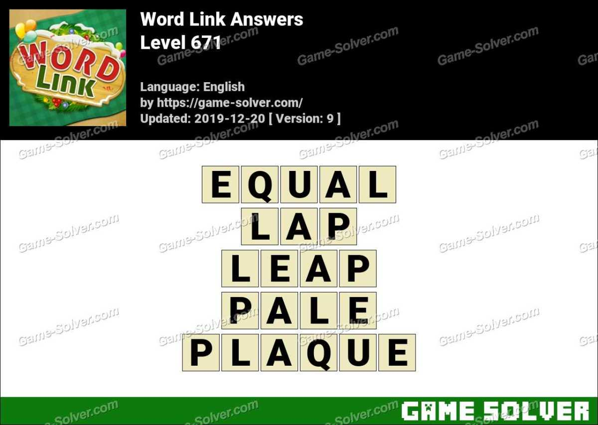 Word Link Level 671 Answers
