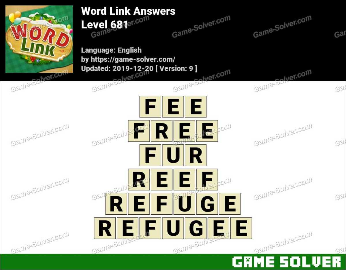 Word Link Level 681 Answers