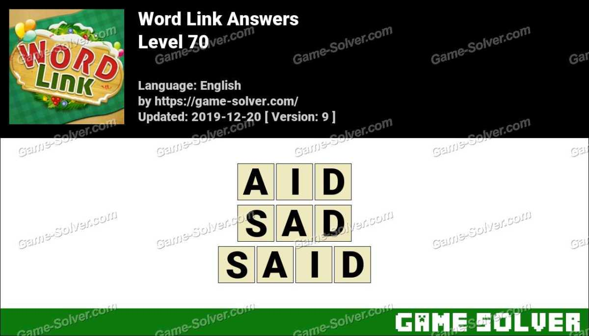 Word Link Level 70 Answers