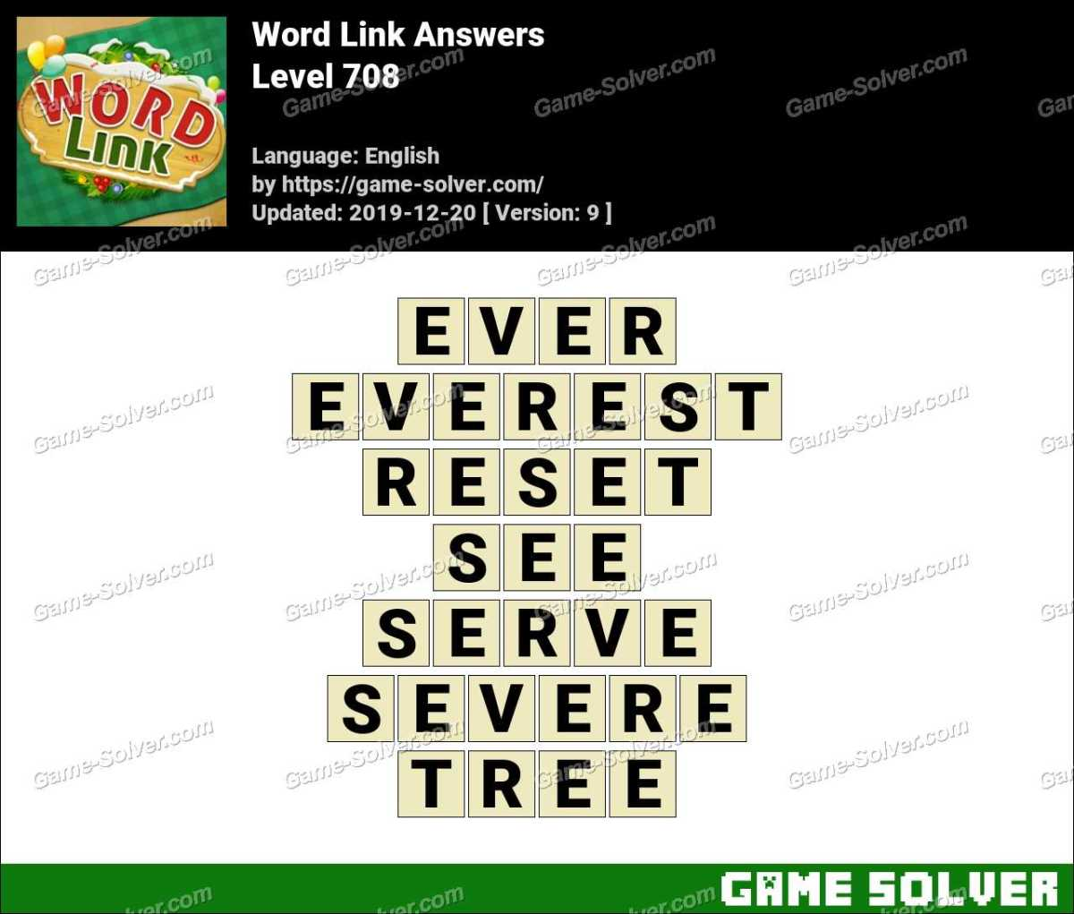 Word Link Level 708 Answers