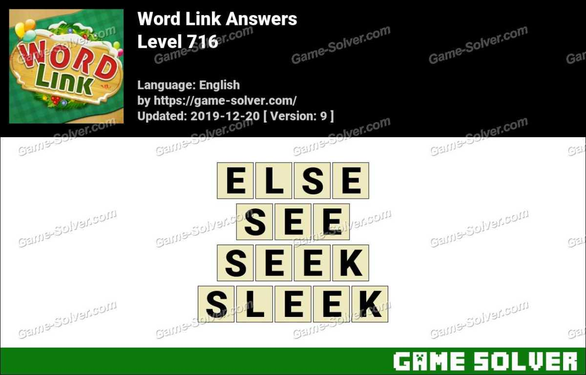 Word Link Level 716 Answers