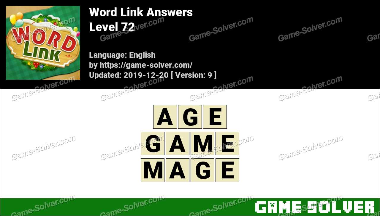 Word Link Level 72 Answers