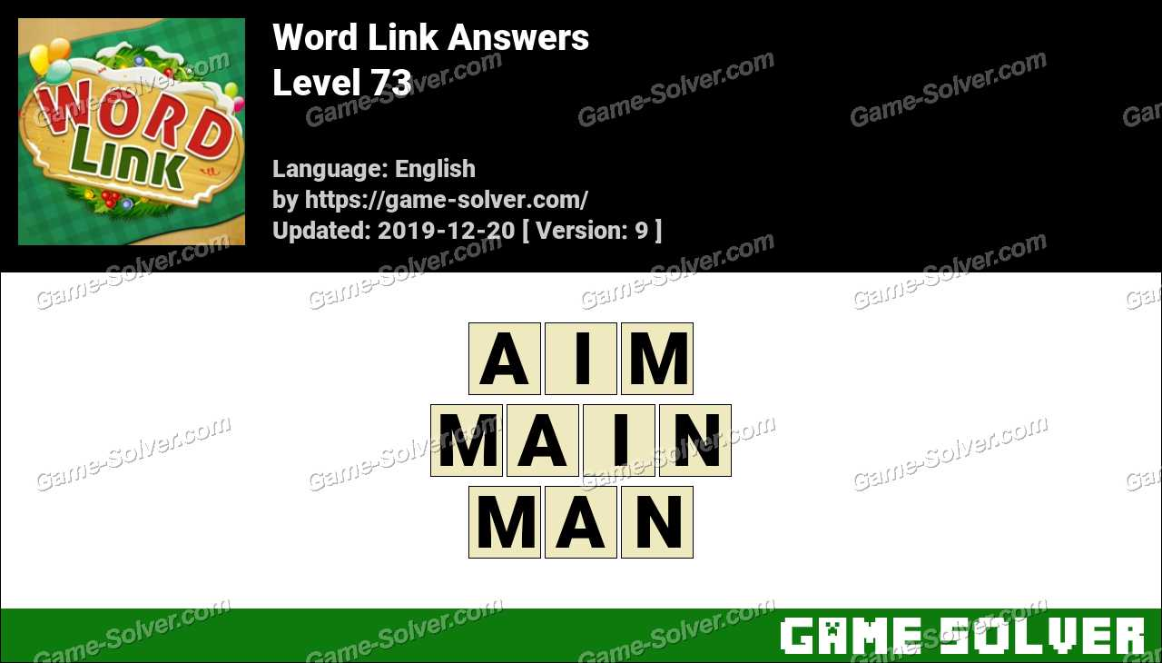 Word Link Level 73 Answers