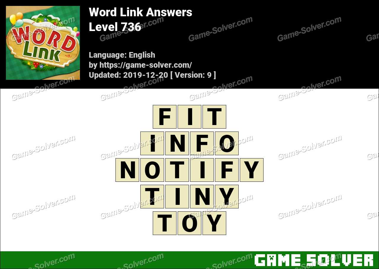 Word Link Level 736 Answers