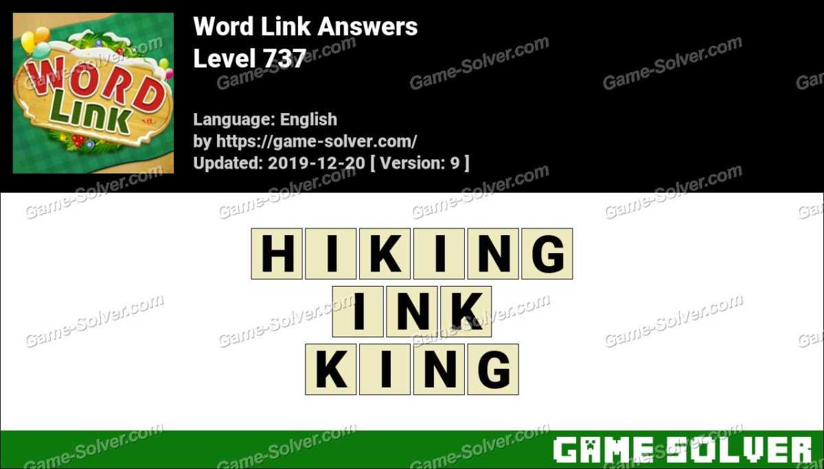 Word Link Level 737 Answers