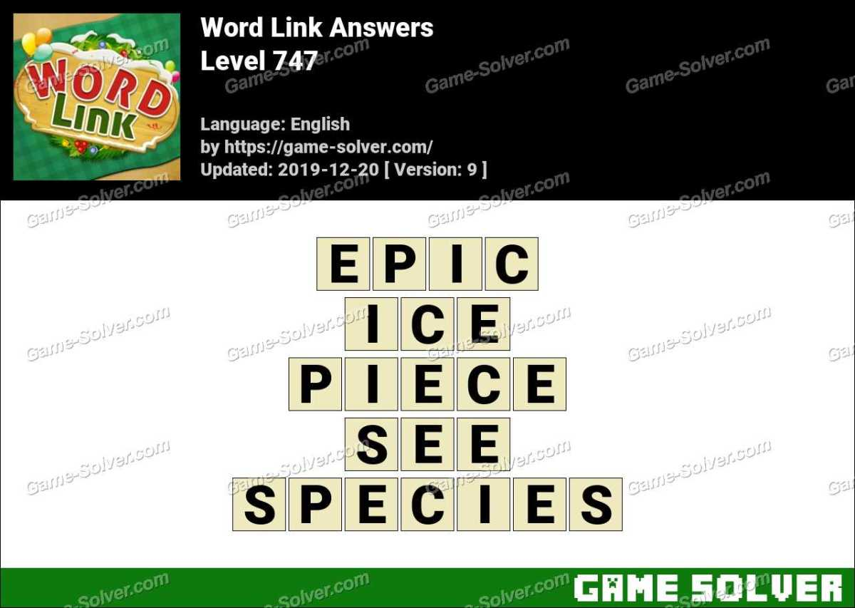 Word Link Level 747 Answers