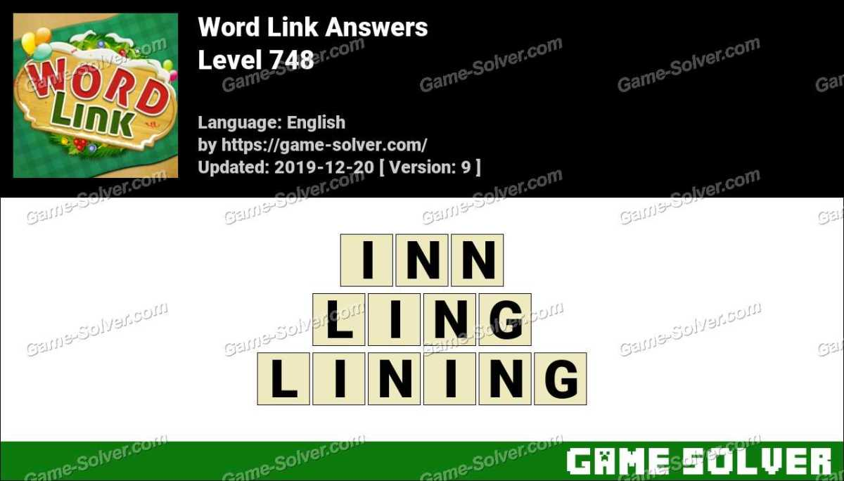 Word Link Level 748 Answers