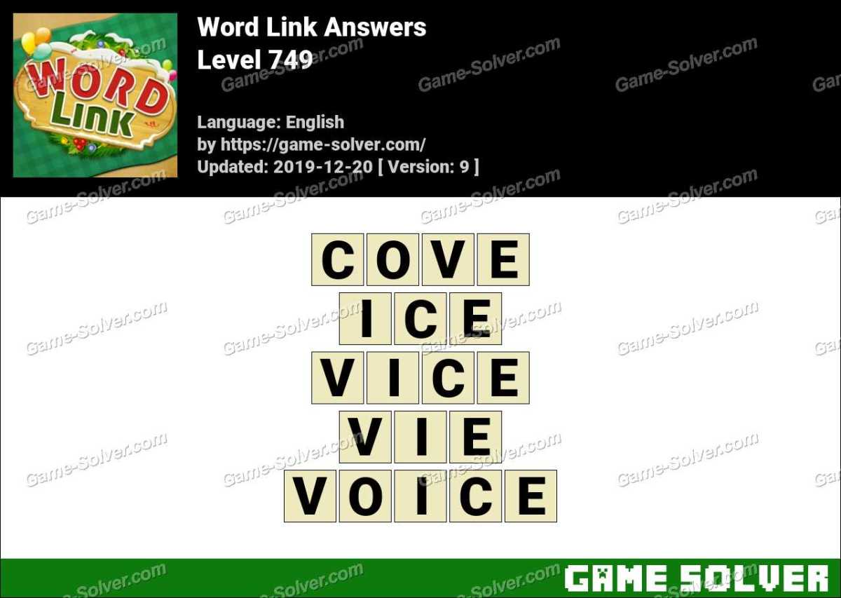 Word Link Level 749 Answers