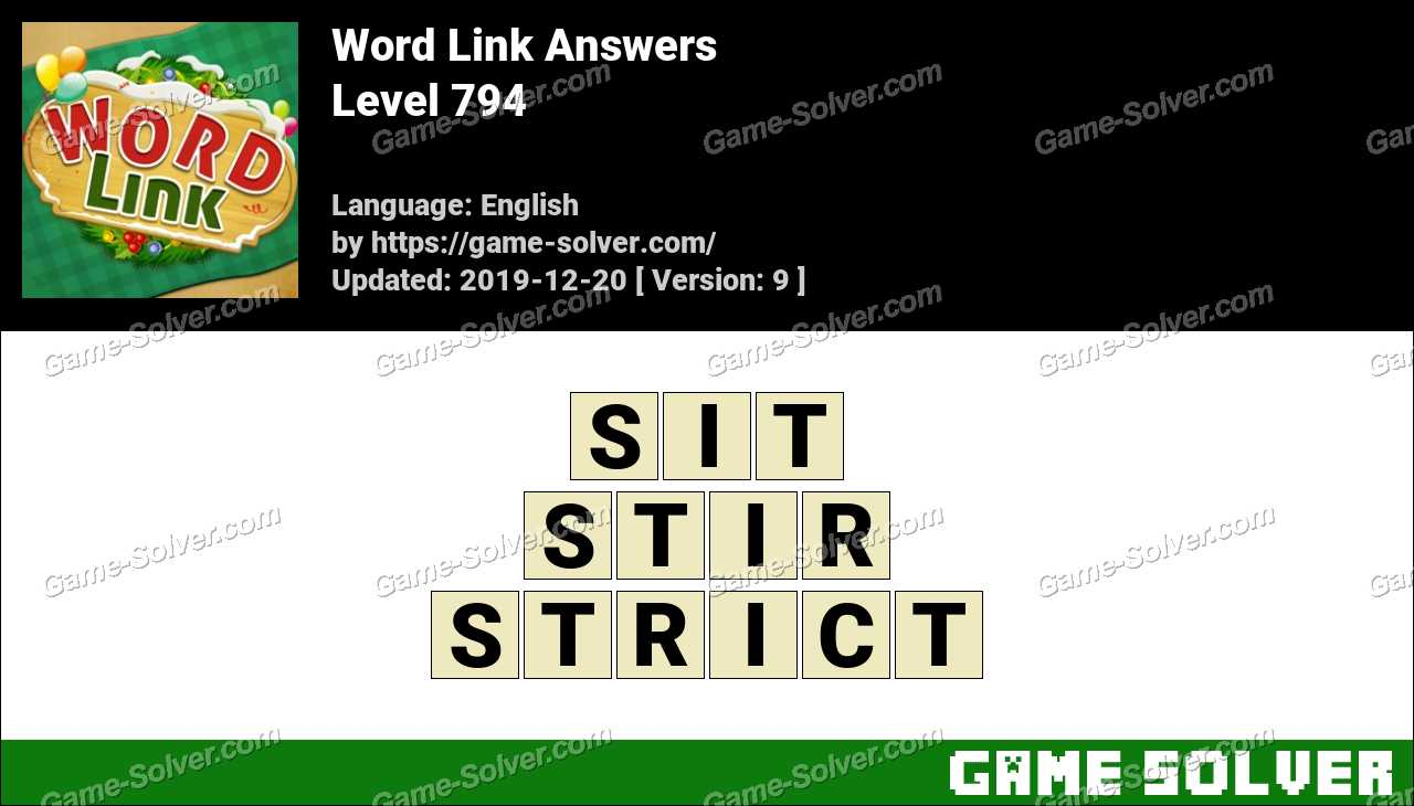 Word Link Level 794 Answers