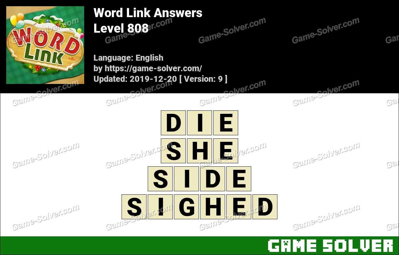 Word Link Level 808 Answers
