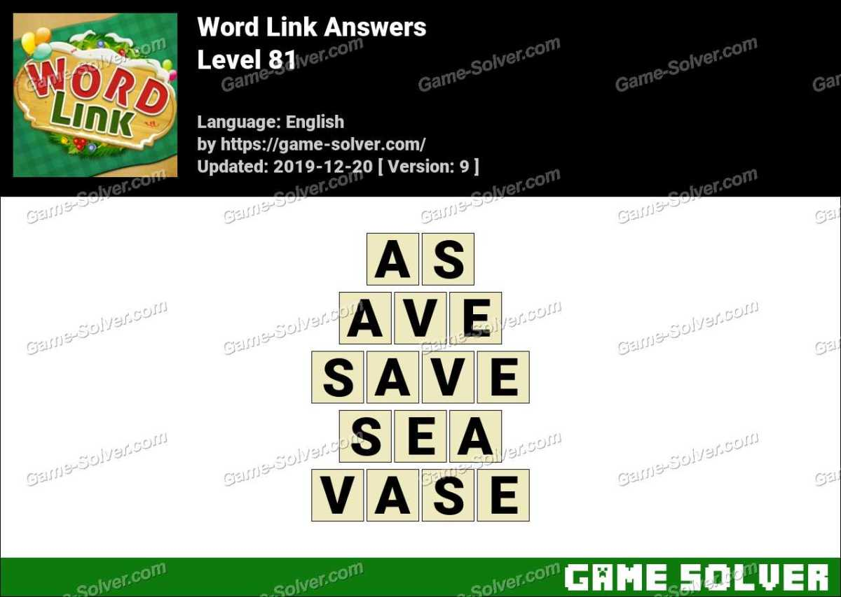 Word Link Level 81 Answers