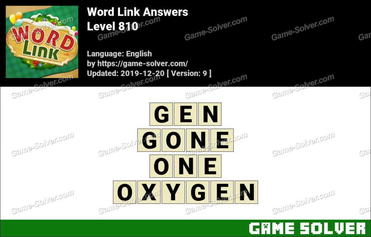 Word Link Level 810 Answers