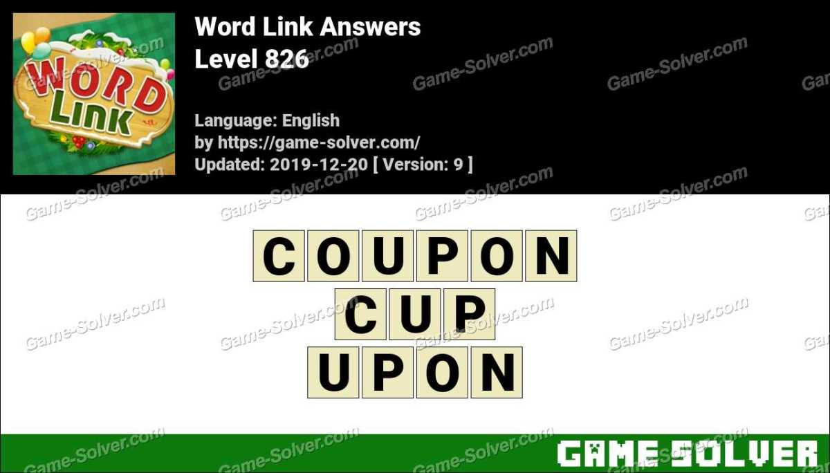 Word Link Level 826 Answers