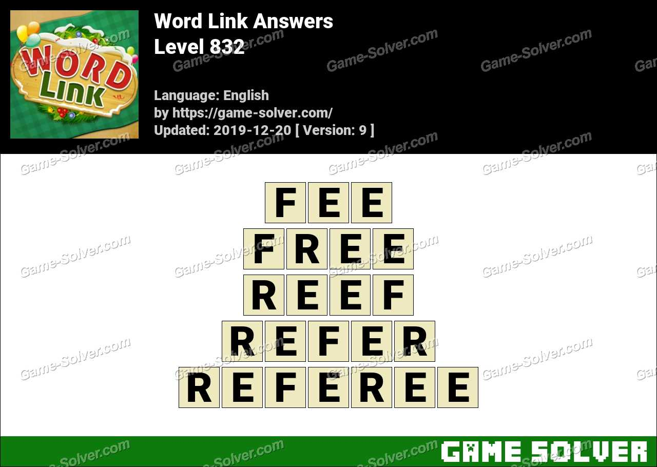 Word Link Level 832 Answers