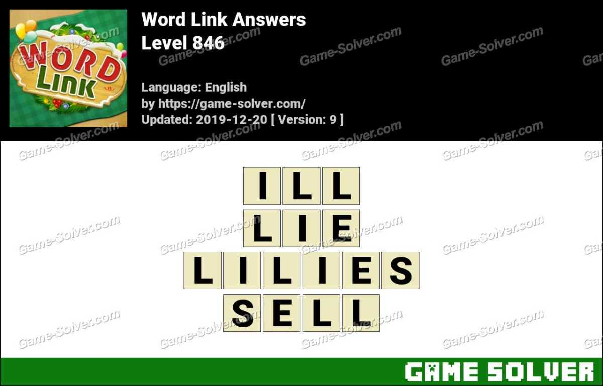 Word Link Level 846 Answers