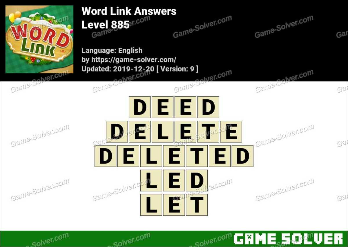 Word Link Level 885 Answers