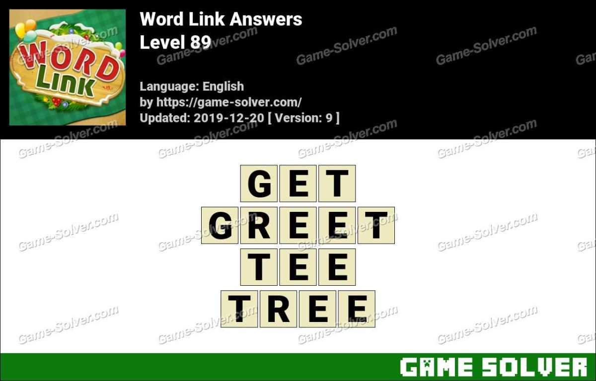 Word Link Level 89 Answers