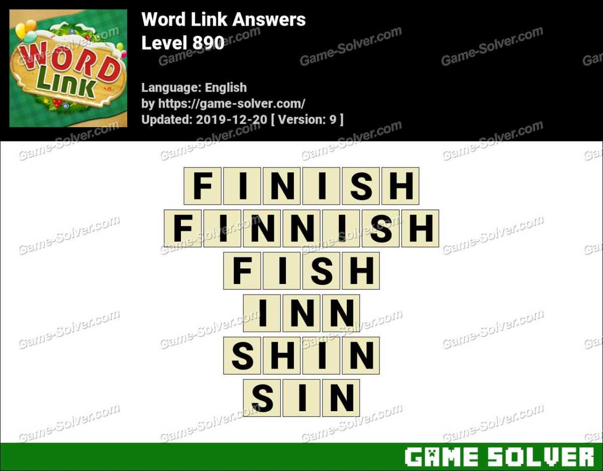 Word Link Level 890 Answers