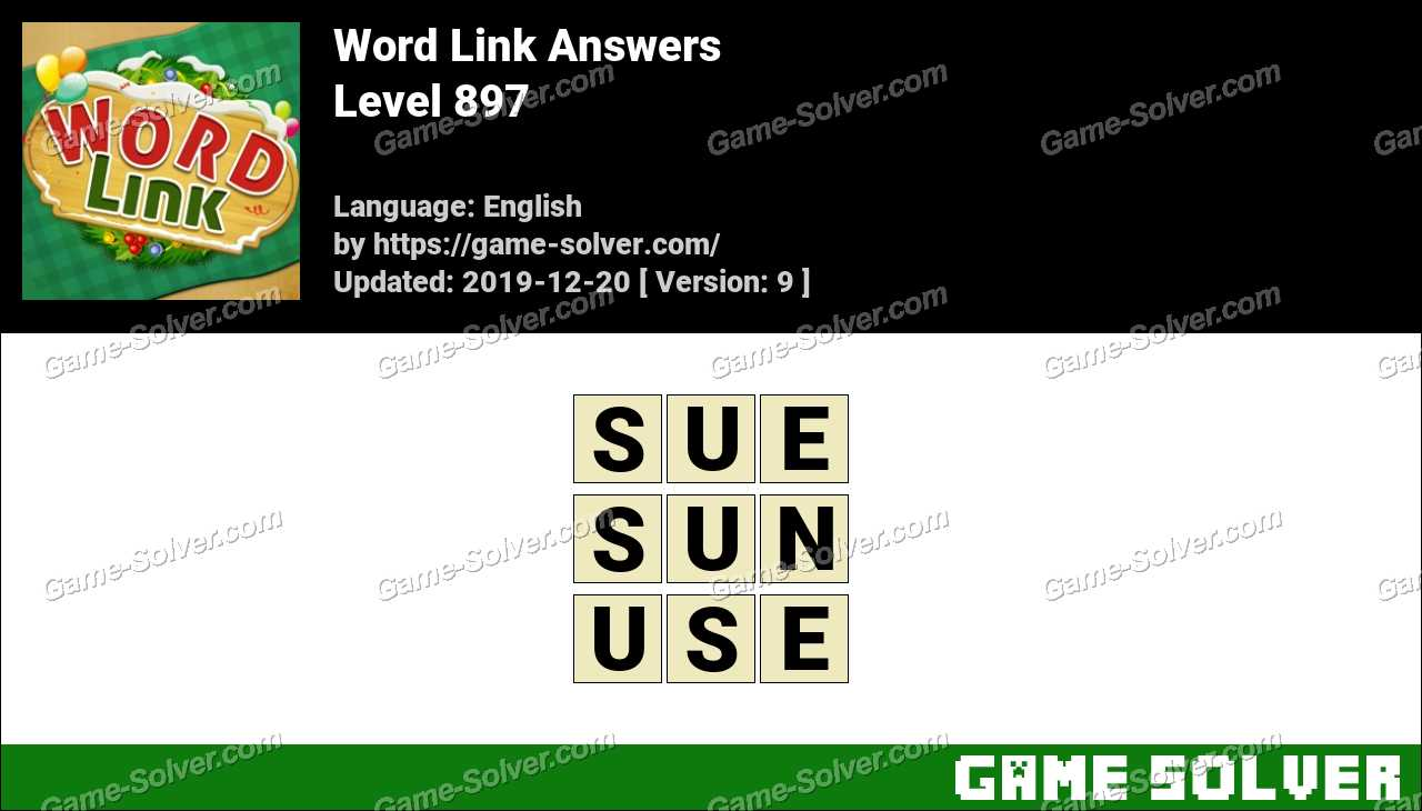Word Link Level 897 Answers