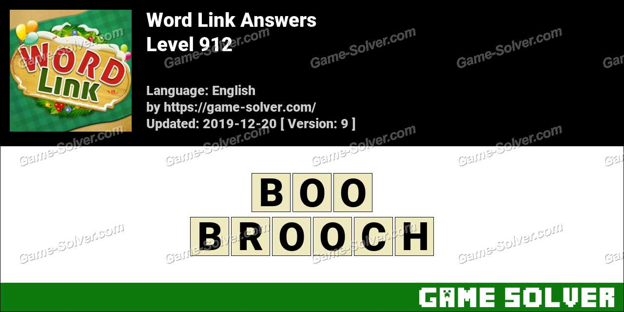 Word Link Level 912 Answers