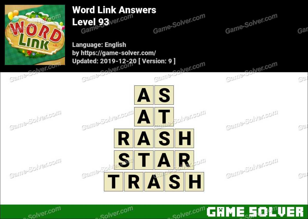 Word Link Level 93 Answers