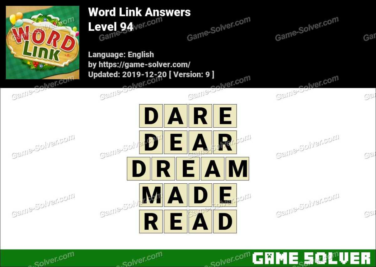 Word Link Level 94 Answers