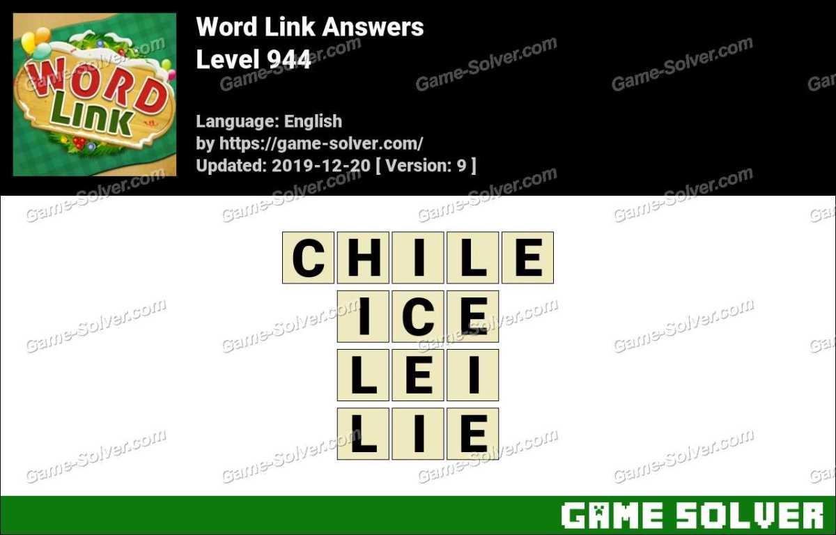 Word Link Level 944 Answers
