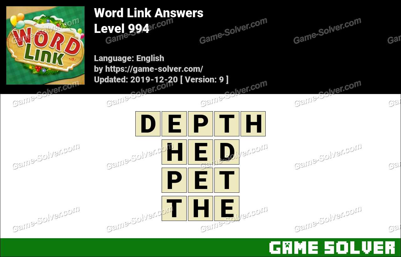 Word Link Level 994 Answers