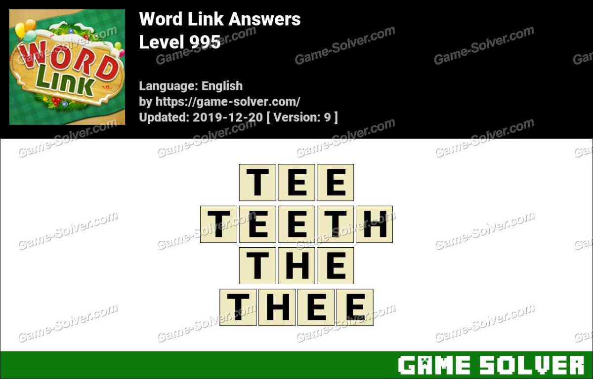 Word Link Level 995 Answers