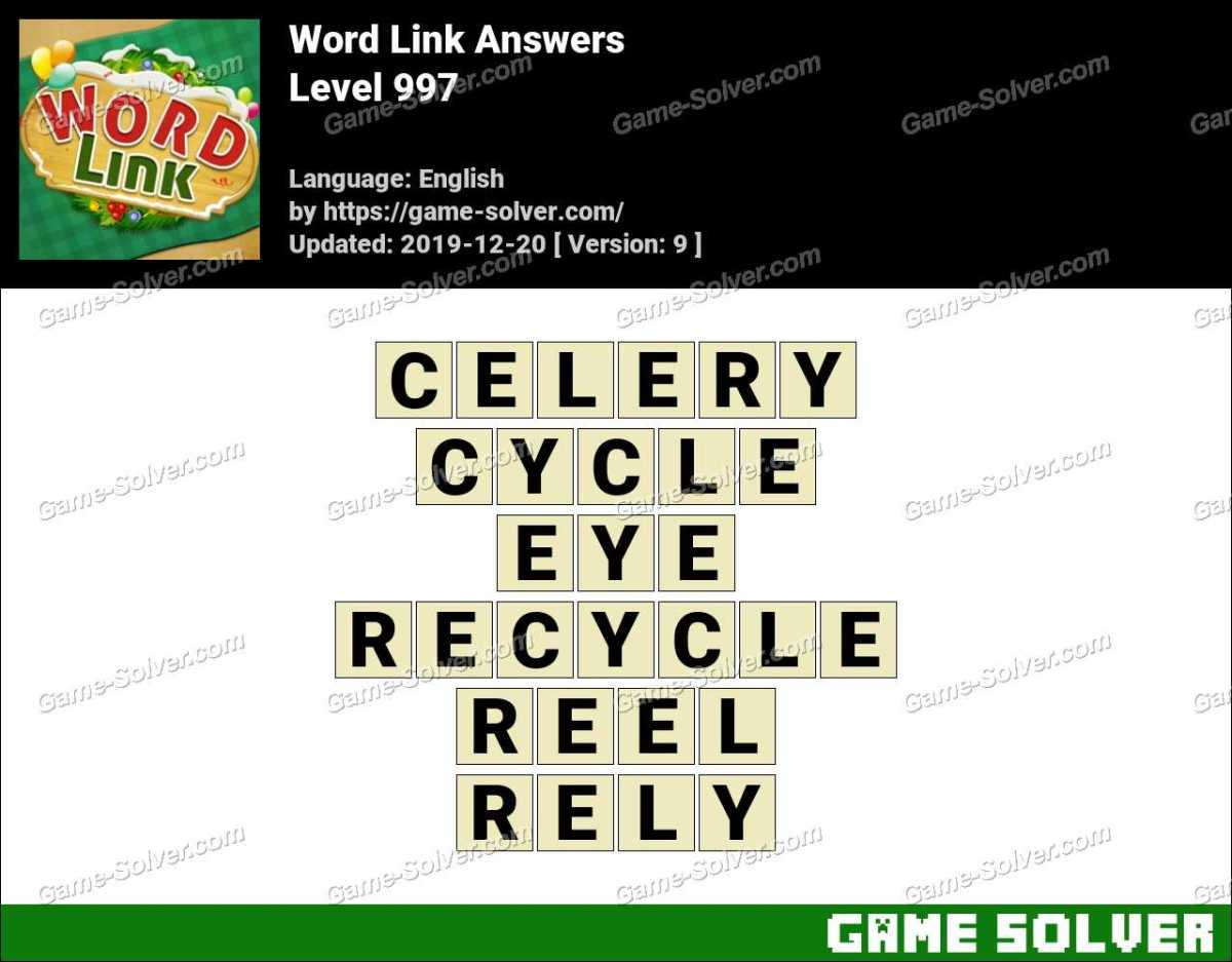 Word Link Level 997 Answers