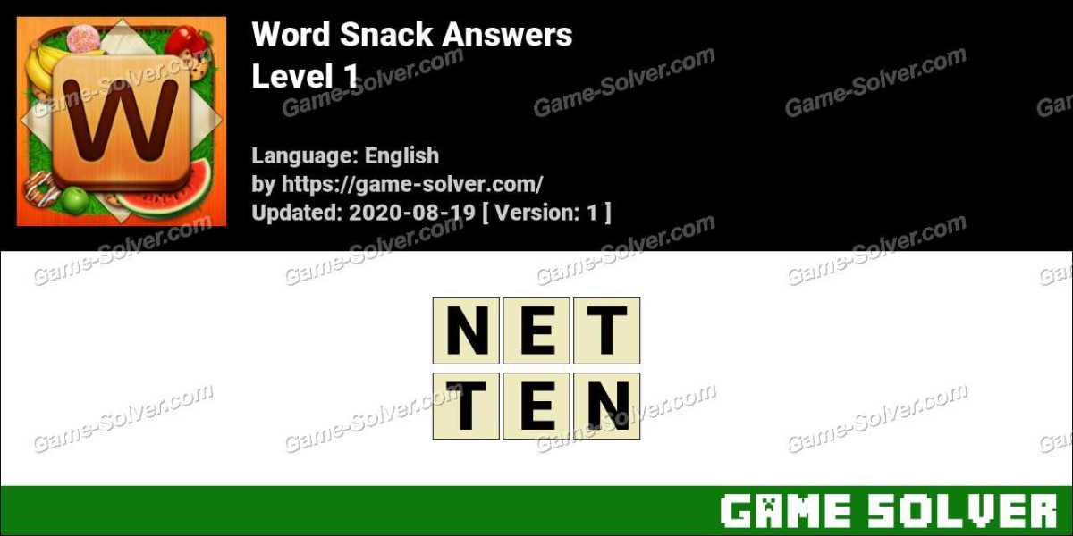 Word Snack Level 1 Answers