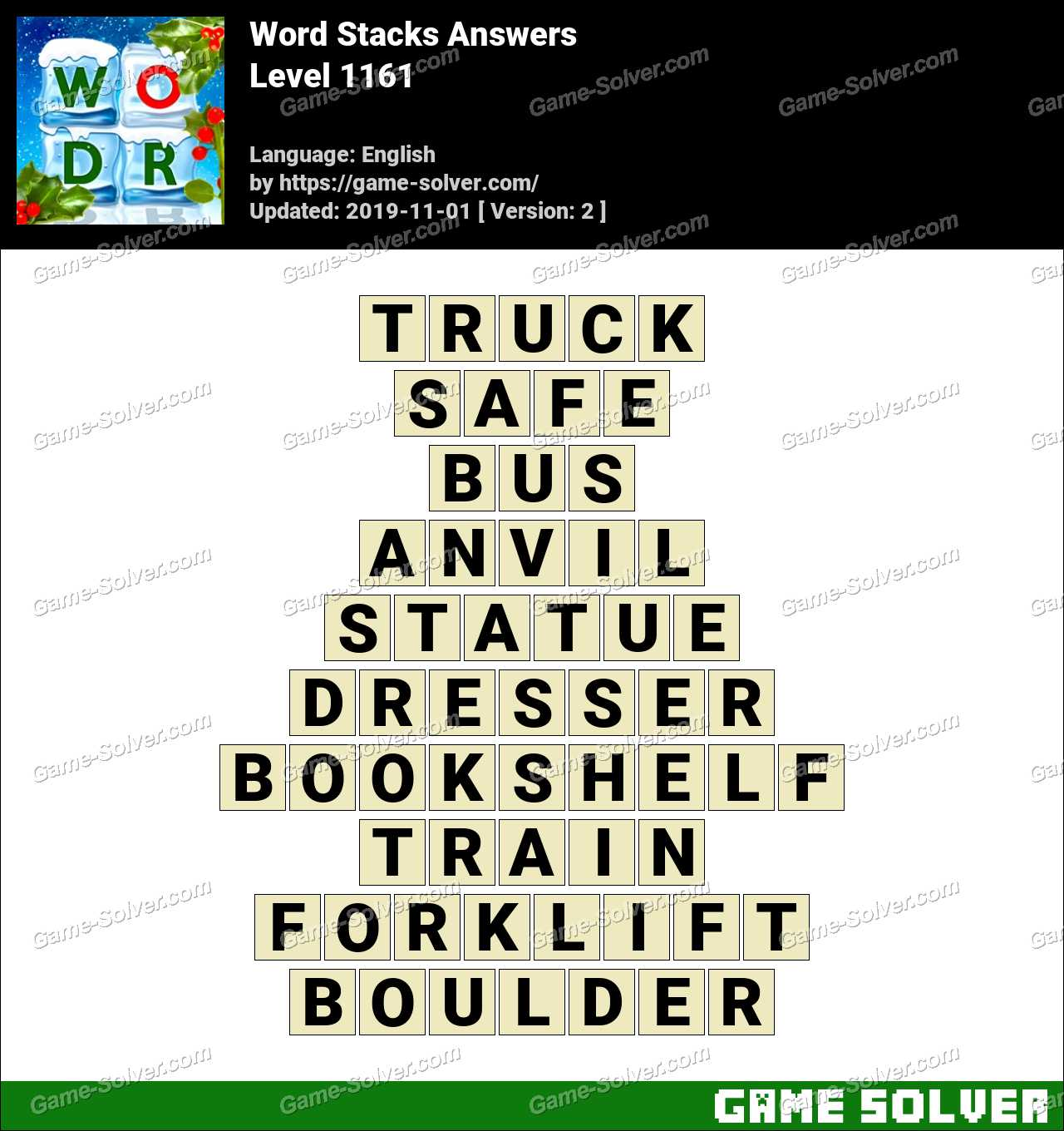 Word Stacks Level 1161 Answers