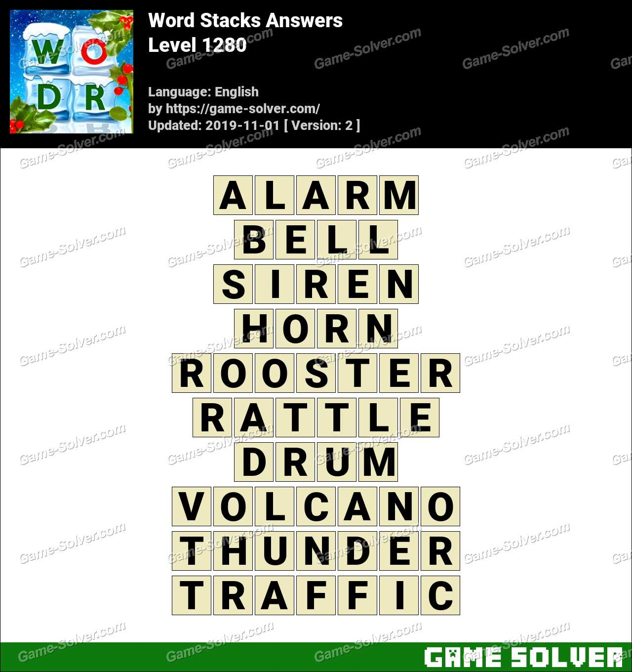 Word Stacks Level 1280 Answers