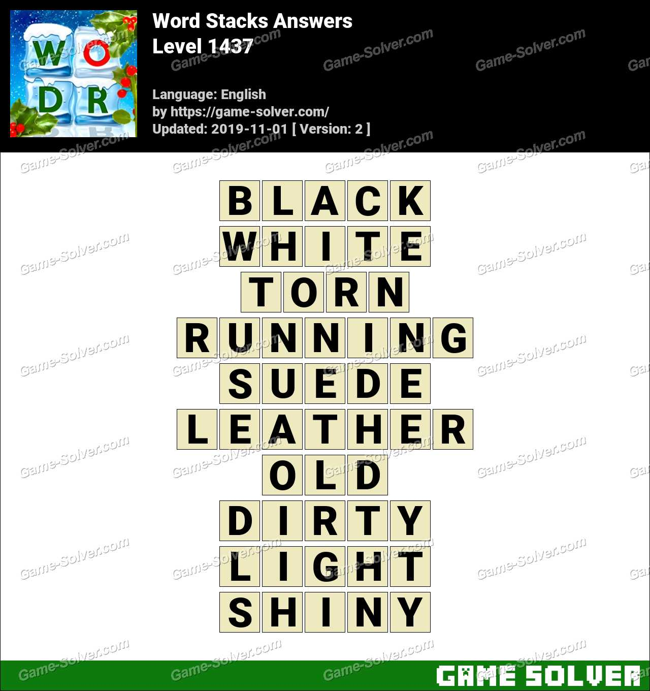 Word Stacks Level 1437 Answers