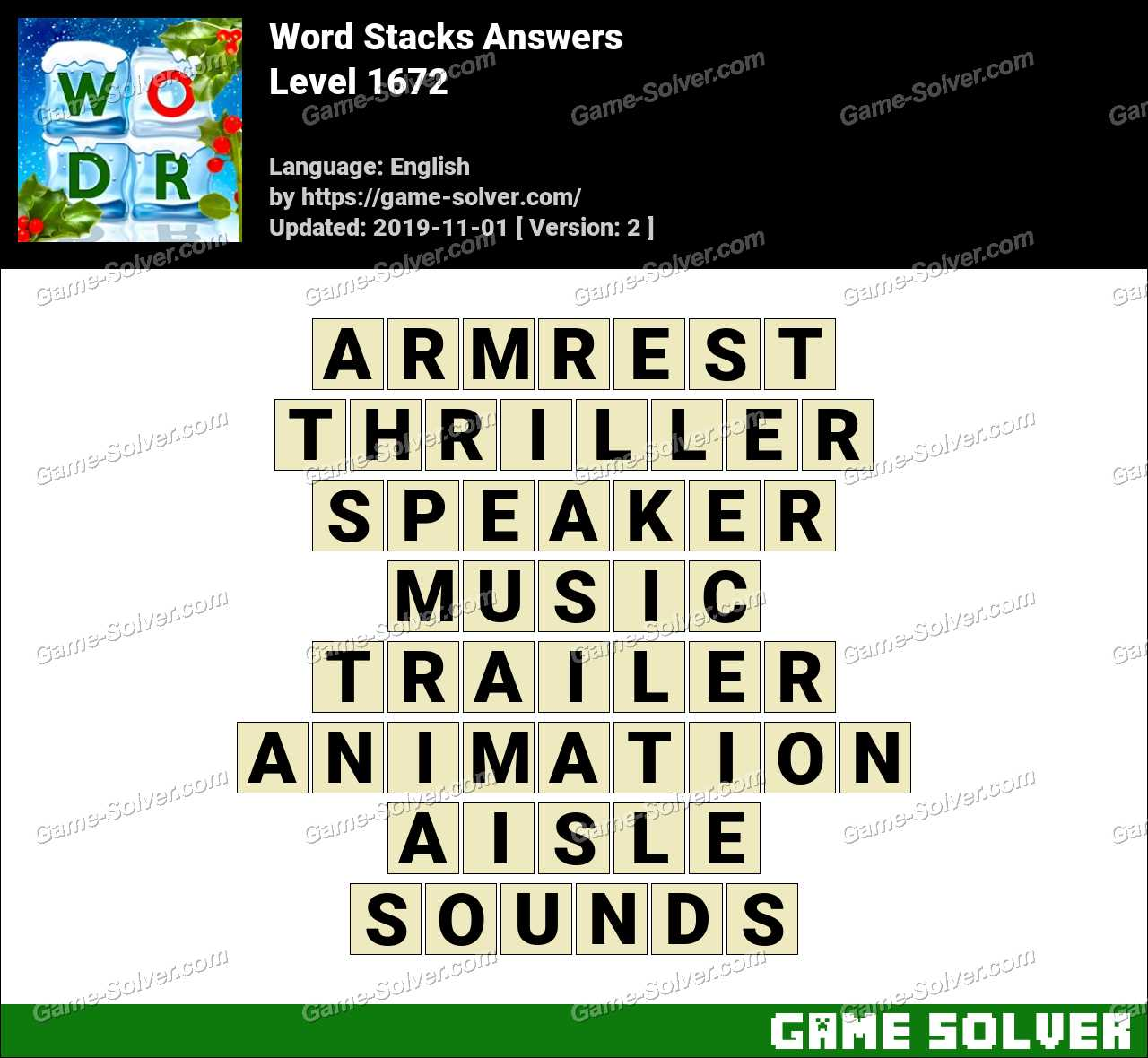 Word Stacks Level 1672 Answers