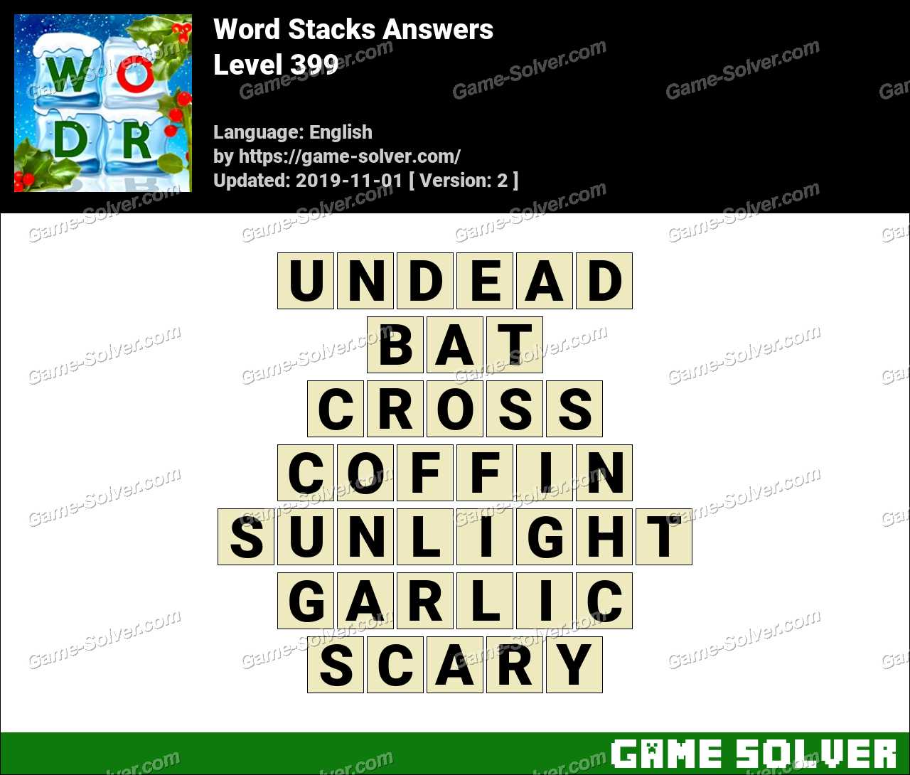 Word Stacks Level 399 Answers