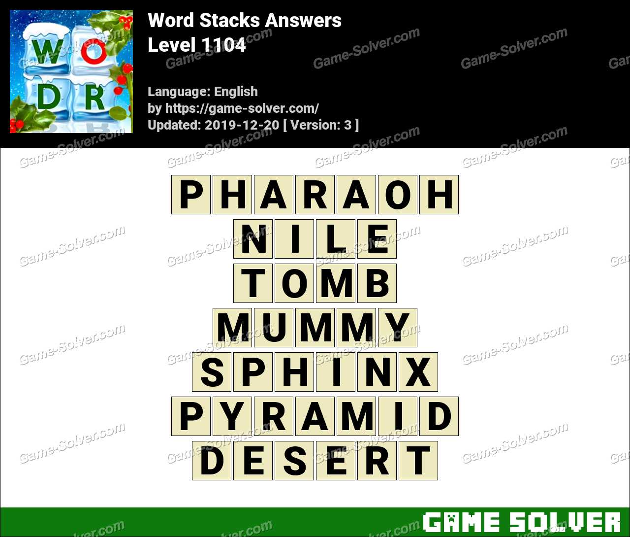 Word Stacks Level 1104 Answers