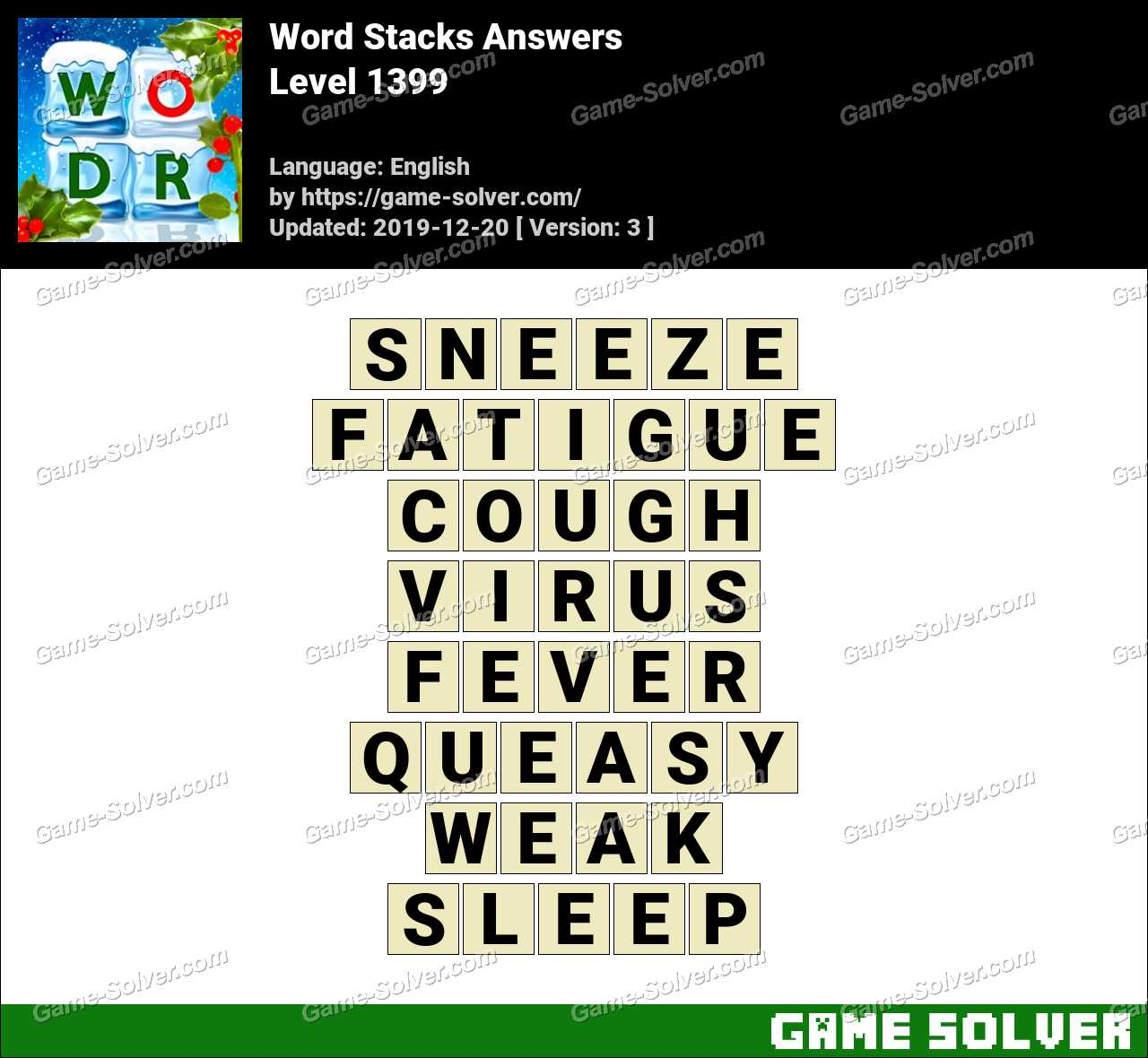 Word Stacks Level 1399 Answers
