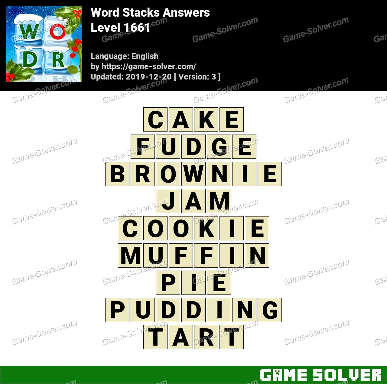 Word Stacks Level 1661 Answers