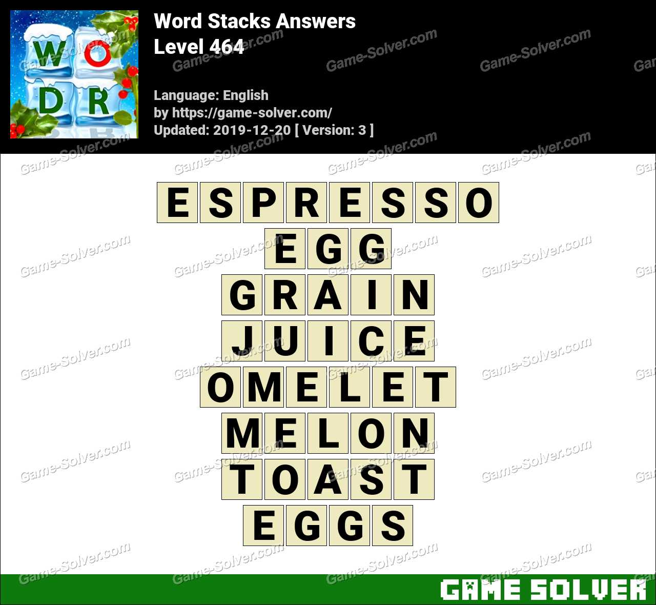 Word Stacks Level 464 Answers