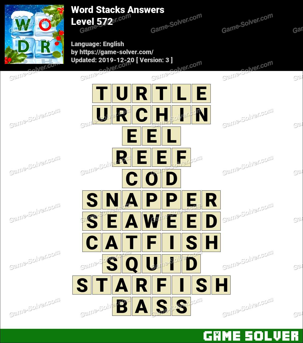 Word Stacks Level 572 Answers