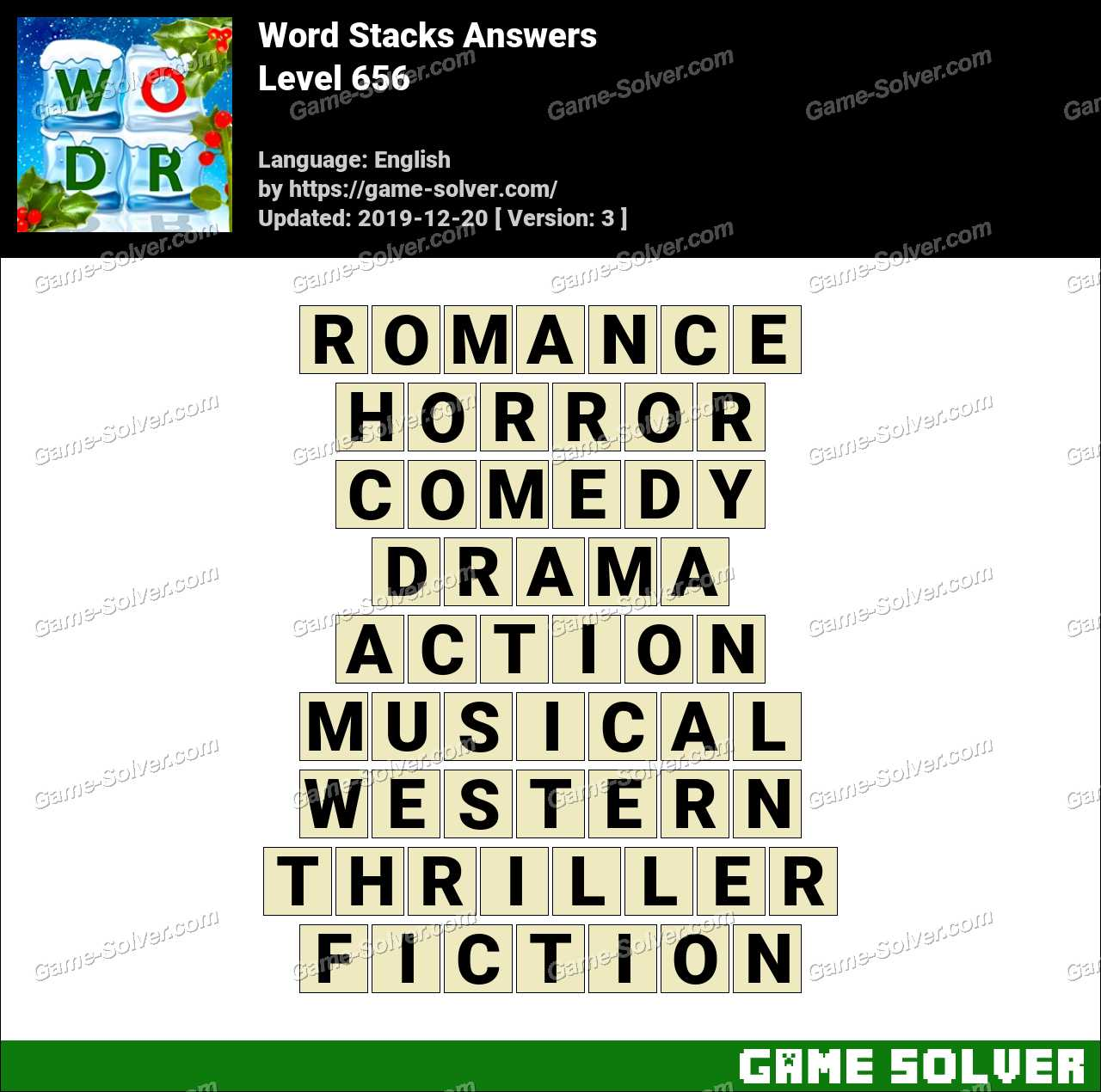 Word Stacks Level 656 Answers