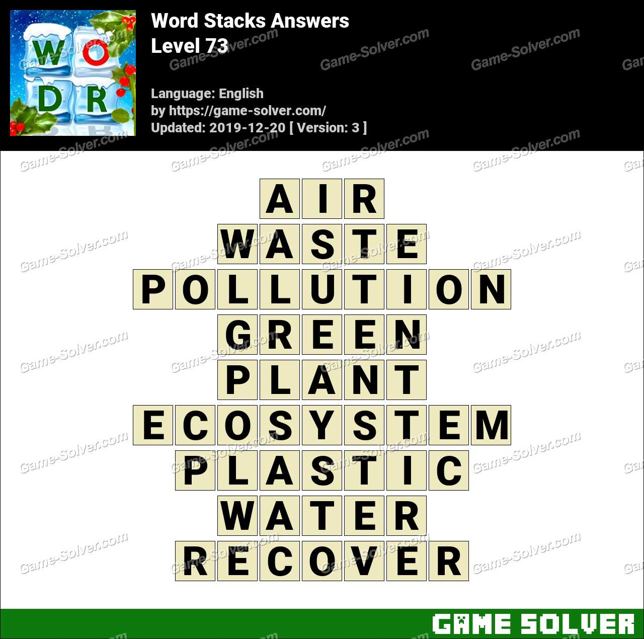 Word Stacks Level 73 Answers